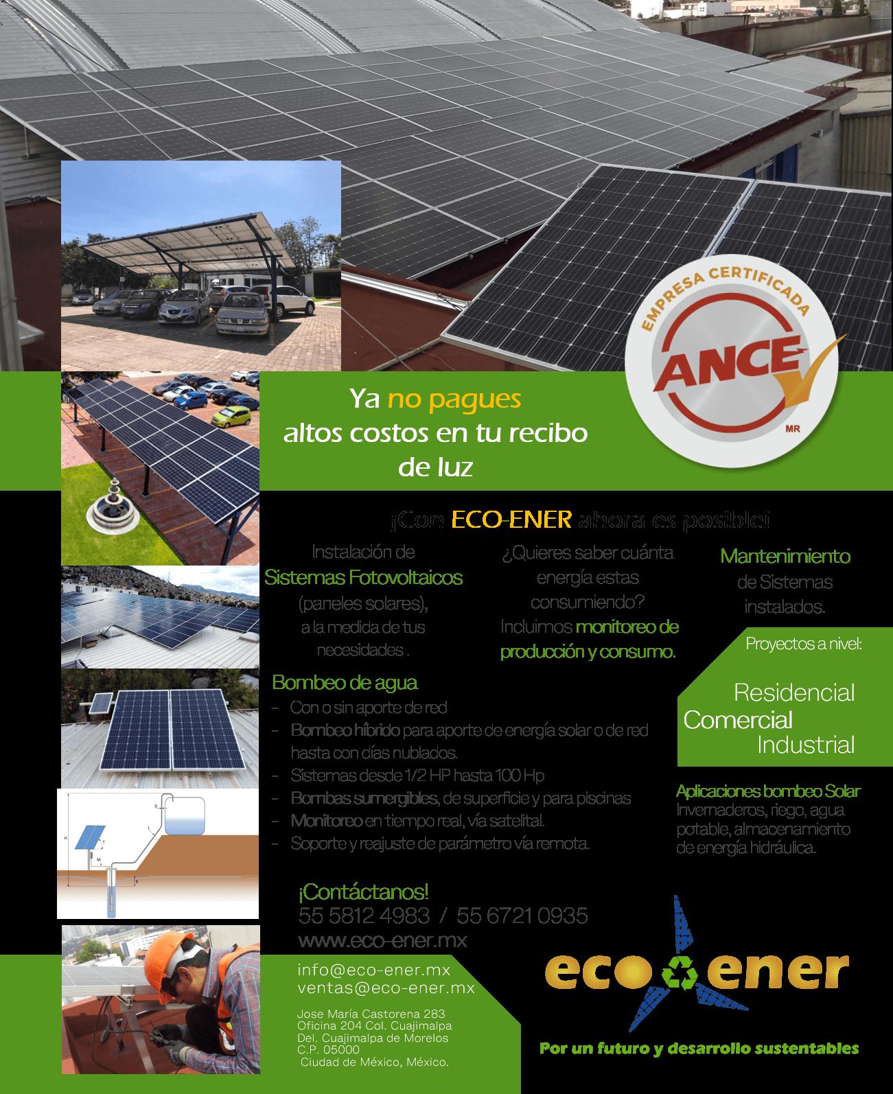 Eco-Ener Paneles Solares y Bombeo Solar